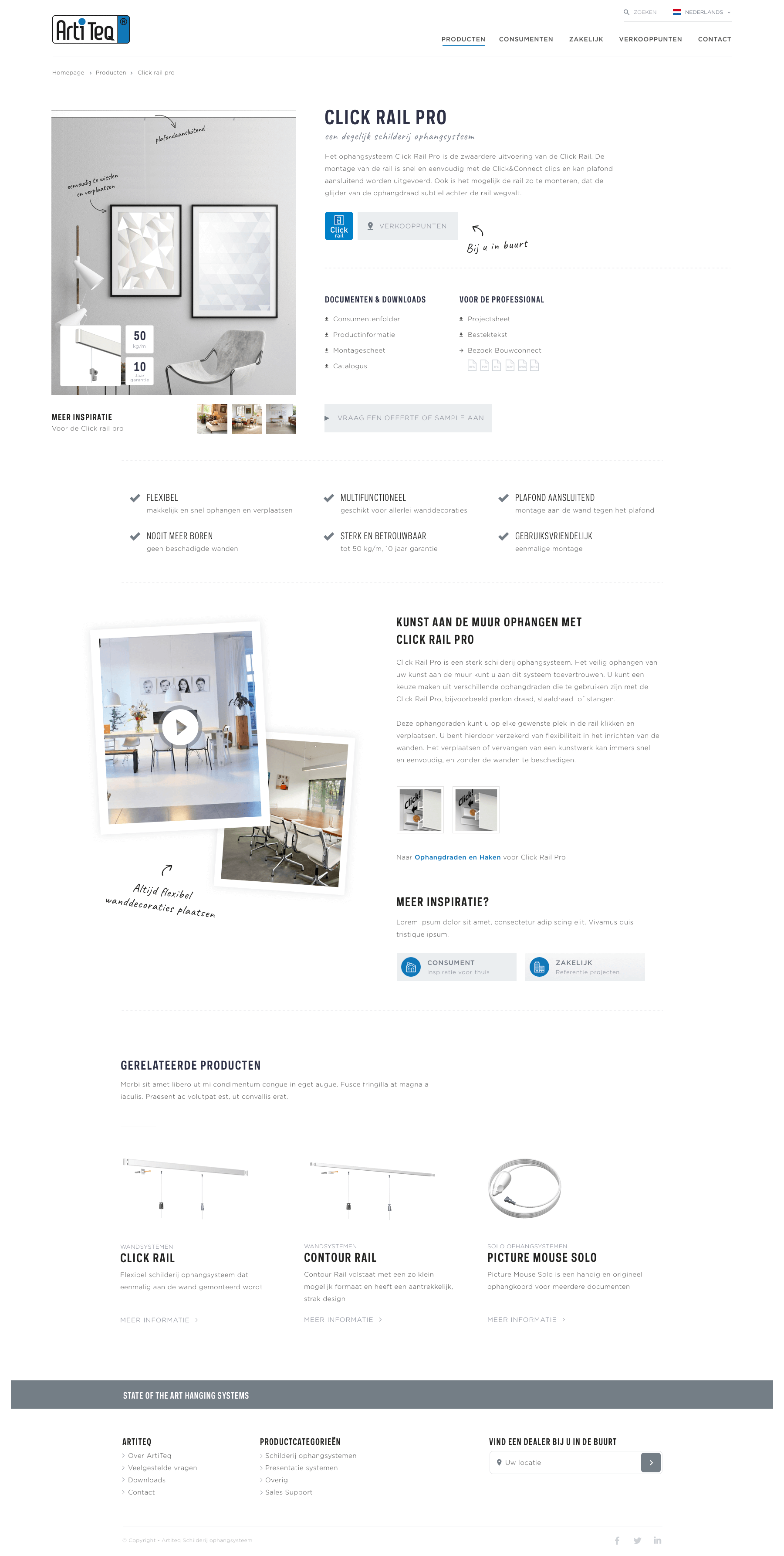 Artiteq productpage